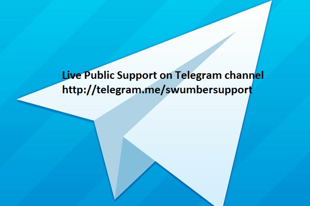 Live support on telegram